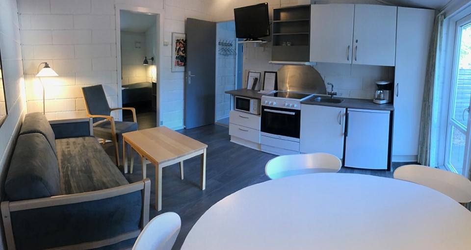 Eksempel på indretning i standard feriehus.