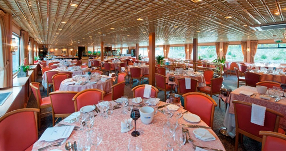 Restauranten på MS Seine Princess.