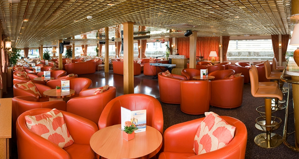 Loungen på MS Rhone Princess.