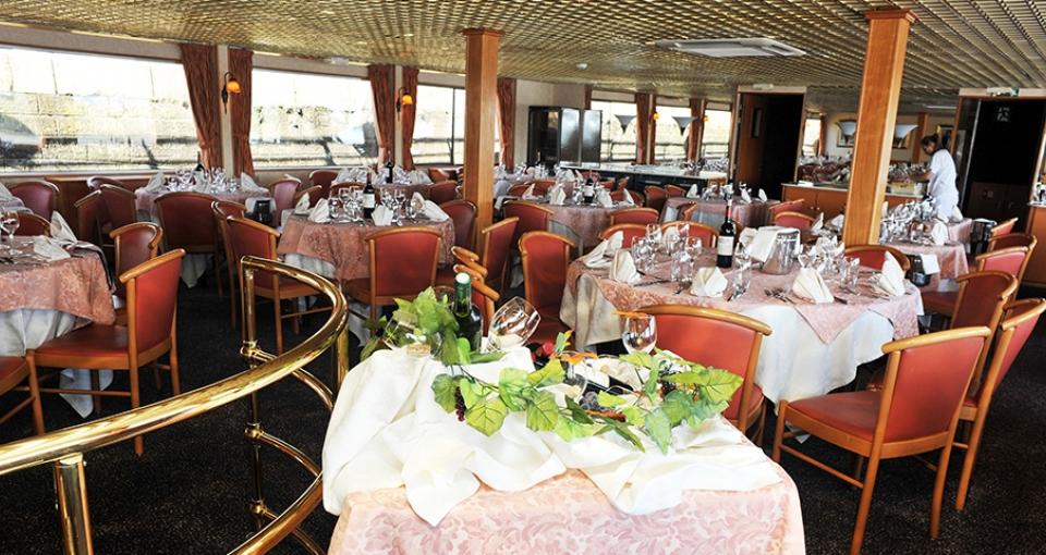 Restauranten på MS Rhone Princess.