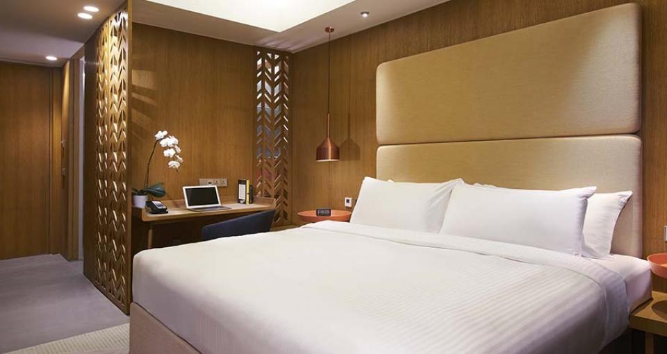 Eksempel på superior værelse på Oasia Hotel Downtown.