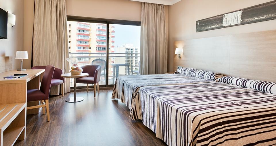Eksempel på dobbeltværelse på Best Hotel Triton.
