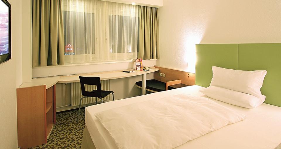 Eksempel på eneværelse på Ibis Hotel Dresden Zentrum.
