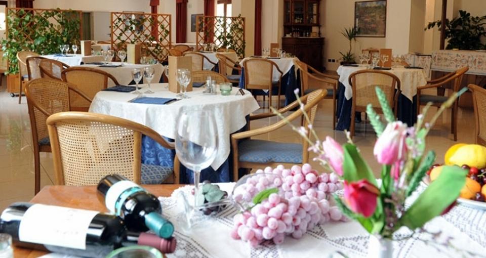 Restauranten i Villa Rosa.