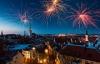 Fyrværkeri over Tallinn.