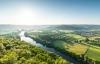 Udsigt over smukke Dordogne.