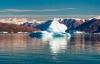 Isbjerg i havet omkring Grønland.