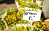 Bomster på det flydende blomstermarked.