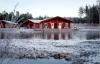 Kosta Lodge ved vintertide.