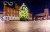 Juletræ og julelys i Odense.