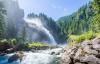 Det flotte Krimml-vandfald i Østrig.