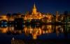 Aftenlys over Barlinek i Polen.