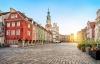 Den flotte gamle markedsplads i Poznan.