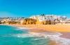 Havet, stranden og Albufeira.