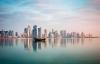 Traditionel dhow i Doha havn.