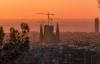 La Sagrada Familia i solnedgangen.