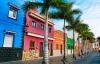 Farvede huse i Puerto de la Cruz.