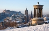 Et snedækket Edinburgh.