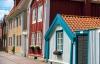 Farvede huse i Kalmar.