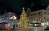 Juletræet på torvet i Lund.