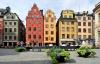 Hyggeligt torv i Stockholm.