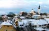 Vinterstemning i Lovosice i Bøhmen.