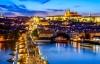 Aftenbelysning over charmerende Prag.