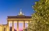 Julestemning ved Brandenburger Tor i Berlin.