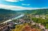 Cochem i Tyskland og udsigt til Mosel.