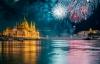 Festligt nytår i Budapest.