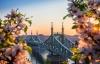 Bro og blomster i Budapest.