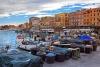Aftenstemning ved havnen i Anzio på Den Romerske Riviera.