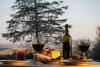 Italienske delikasser og vin.