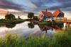 Hus og vindmøller i Zaanse Schans.