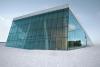 Operahuset i Oslo dækket i sne.