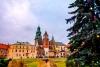 Juletræet ved Wawel-katedralen.