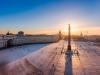 Skt. Petersborg i vintersol.