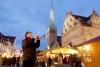 Trompetspiller på julemarkedet i Weser.