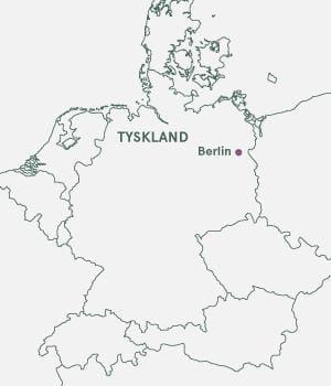 Kort over Tyskland - Vestberlin Julemarked