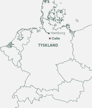 Kort over Tyskland - Celle