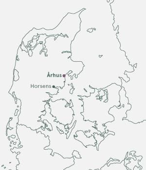 Kort over Danmark - Århus Julemarked