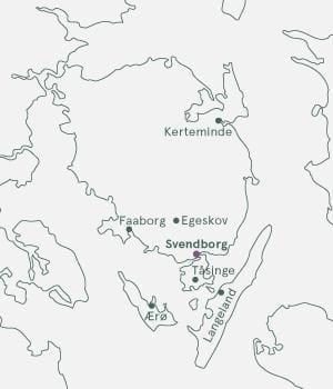 Kort - Fyn - Danmark