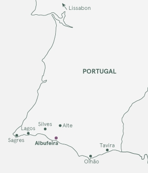 Kort over Portugal - Algarve Deluxe
