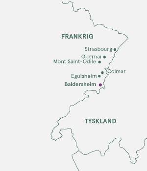 Kort - Alsace og Vinruten - Sommer 2020