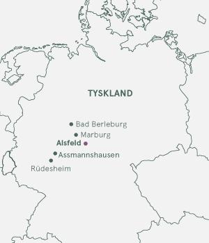 Kort - Alsfeld og Rhinen - Sommer 2019