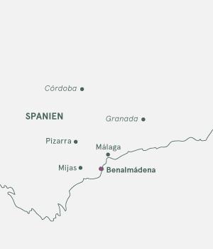 Kort Andalusien Costa del Sol