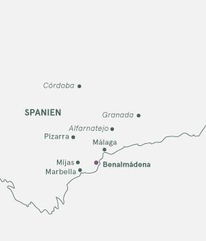 Kort - Langtidsrejse til Costa del Sol og Benalmádena - 2019