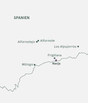 Kort over Spanien - Nerja