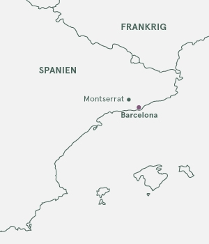 Kort over Barcelona