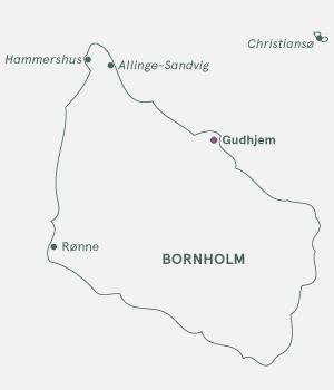 Kort - Bornholm - Gudhjem - Sommer 2020